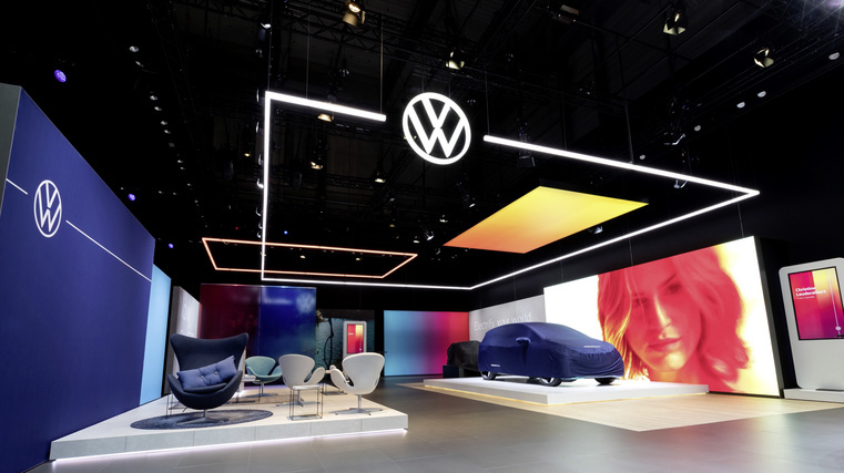 VW unveils brand-new logo