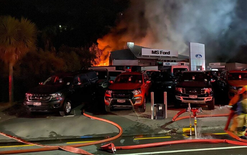 Fire devastates Ford dealership