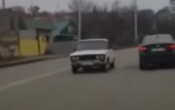 Russian teen tweaks Lada to drive backwards