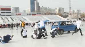 Curling with cars