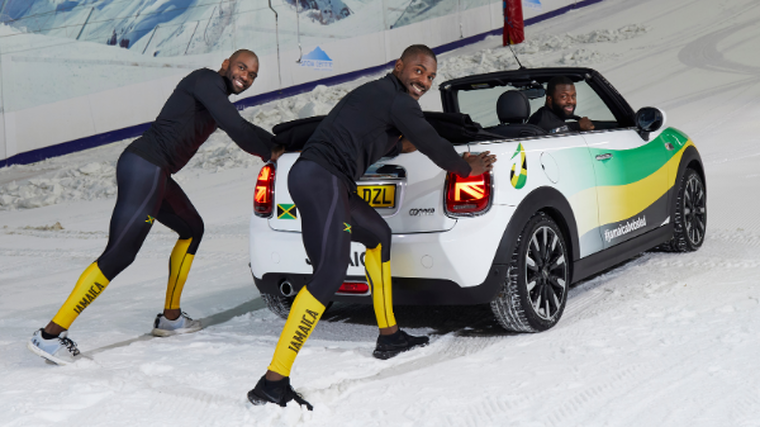 Bobsleigh team motors on